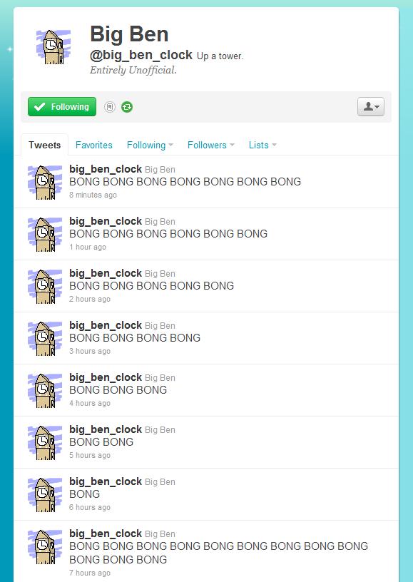 Big ben on twitter